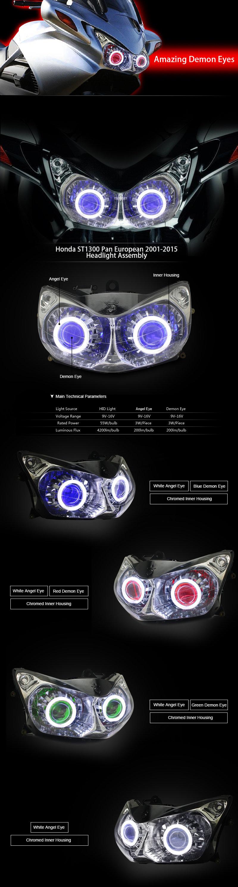 Fits Honda St1300 Pan European Xenon Headlight Bulbs H4 Fuse Box