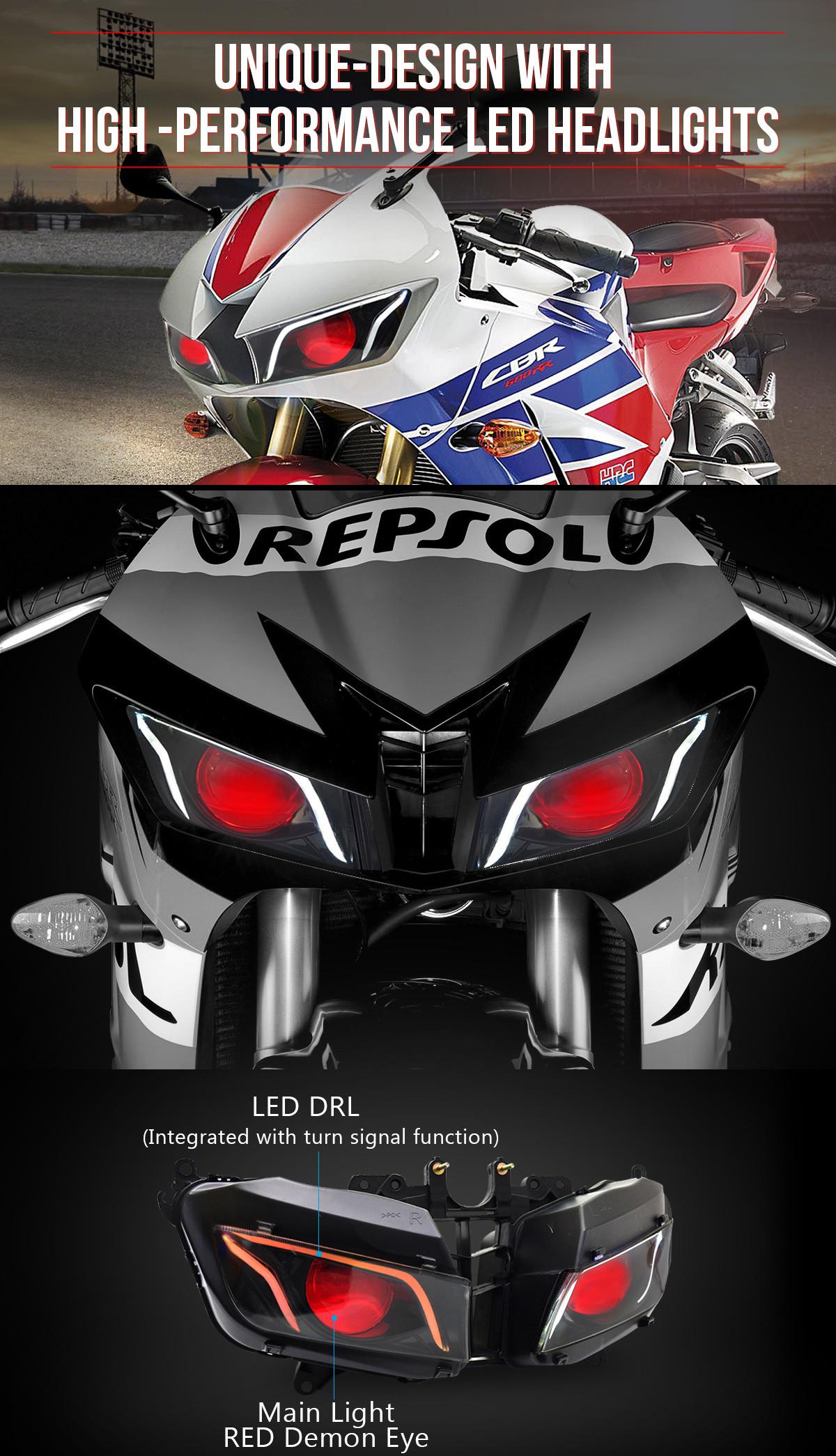 2018 2017 2016 2015 2014 2013 cbr600rr full led headlight