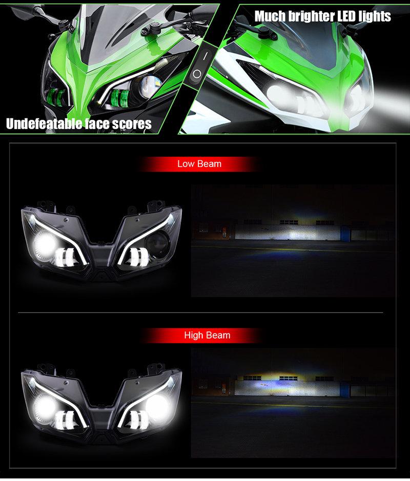 Ninja ZX6R Headlight 2013 2014 2015 2016 2017